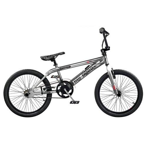 "2019 Rooster Big Daddy Kids 20"" Wheel Freestyle BMX Bike Chrome Gyro RS128"