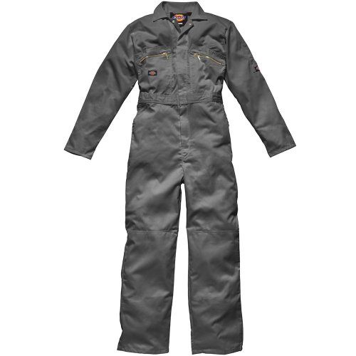 Dickies WD4839 Redhawk Overall with Zip Front, 36R, Grey