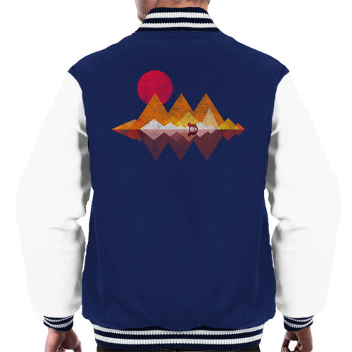 Lone Wolf Sunset Men's Varsity Jacket