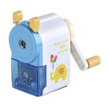 Plastic for Classroom Office Use Manual Pencil Sharpener Blue
