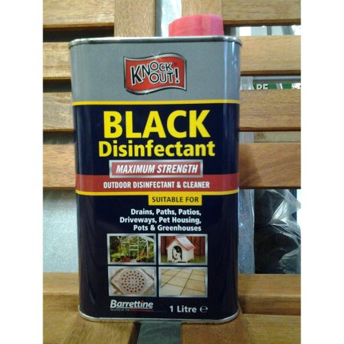 Knockout Black Disinfectant - Greenhouses, pet houses, Paths, Drains etc