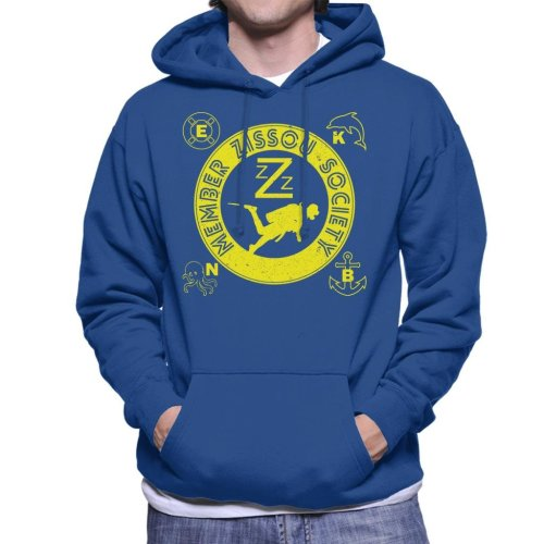 Life Aquatic Inspired Zissou Society Men's Hooded Sweatshirt