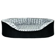 Trixie Lino Vital Dog Bed, 110 x 92 Cm, Black/grey - Bed Blackgrey Various -  trixie dog vital bed lino blackgrey various sizes new
