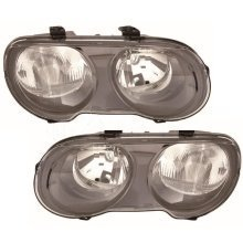 Rover Streetwise 2003-2006 Headlights Headlamps 1 Pair O/s & N/s