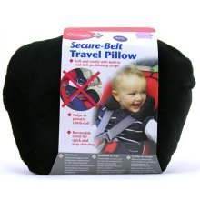 Clippasafe Secure-belt Travel Pillow for Cars in Black (1-3 Yrs)