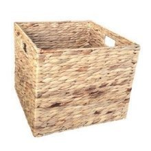 Large Water Hyacinth Square Storage Basket