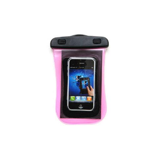 Waterproof Camera Bag Underwater Swimming Diving Cellphone Bag, Pink