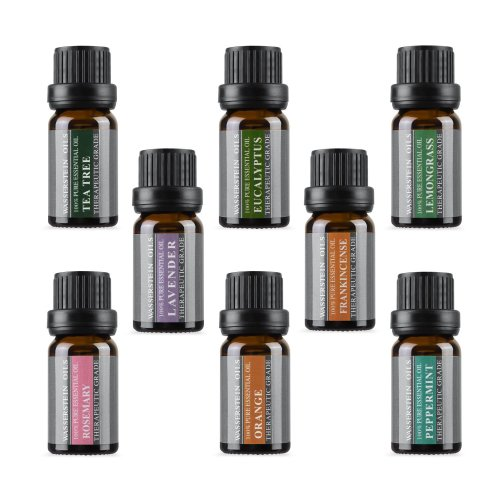 Aromatherapy 100% Pure Basic Essential Oil by Wasserstein (Gift Set, Top 8)