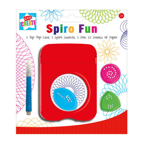 Spiro Fun Flip Top Case Stencils Pen & Paper