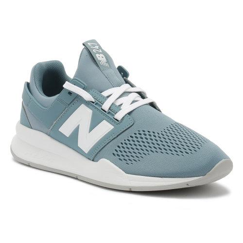 New Balance Womens Smoke Blue / White 247 Sport Trainers