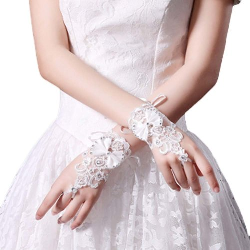 Bridal Wedding Gloves Party Dress Lace Short Gloves B13