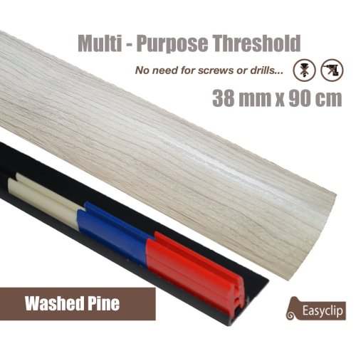 White Washed Oak Multi Purpose Threshold Strip 38mmx90cm Adhesive