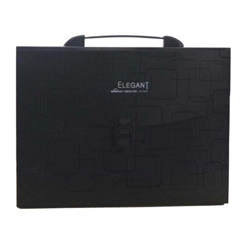 Multilayer Files Organizer Student Portable File Holder A4 File Pocket-Black