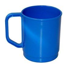 *camping Cup -  camping cup mug picnic blue boyz toys caravan handle  strong plastic drinking tea coffee cups BLUE CAMPING CUP PLASTIC MUG OUTDOORS