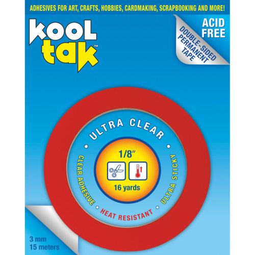 """Kool Tak Ultra Clear Tape-.125""""X16yd"""