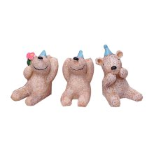Set of 3 Unique Animal Decoration Zoo Animal Toys,1.6''