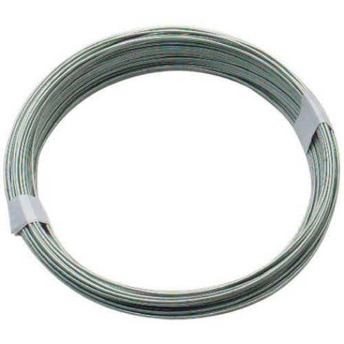 Bulk Hardware BH00324 Galvanised Coated Garden Wire, 1mm x 80 Metres (260ft) 18 Gauge 5/128 inch Thickness