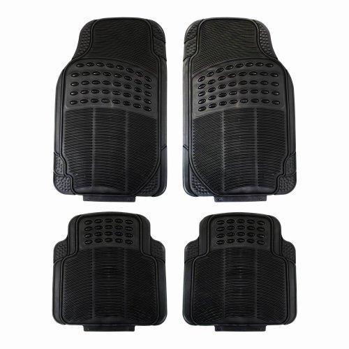 Luxury Rubber Universal Car Mat Set Black Premium Rubber Floor Mats