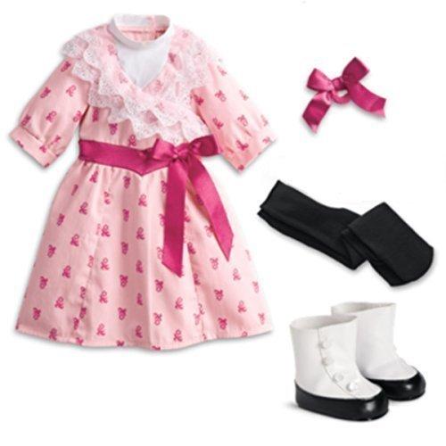 "American Girl Samantha's Flower Picking Dress for 18"" Dolls in Red Bag"