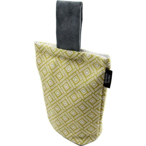 McAlister Textiles Elva Geometric Ochre Yellow Door Stop