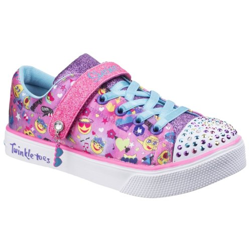 Skechers Childrens Girls Twinkle Breeze 2.0 Character Cutie Touch Fastening Trainers