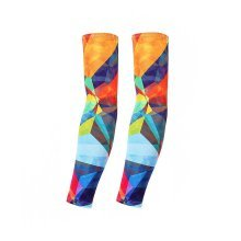 UV Protection Arm Sleeves Breathable Long Sleeves To Cover Arms Colored Geometry