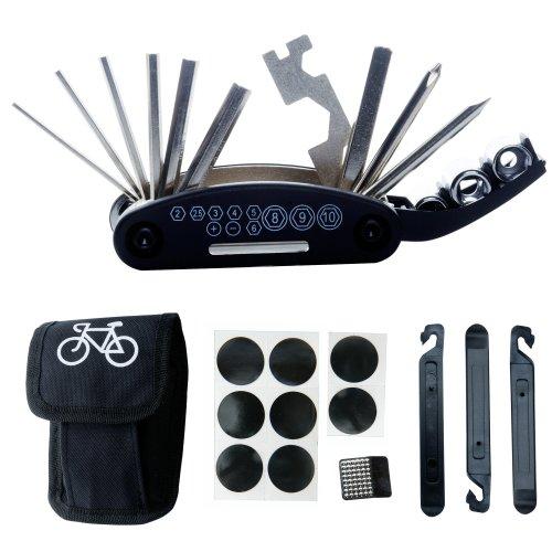 Bike Bicycle Repair Tool Kit - DAWAY B32 Cycling Multifunctional Mechanic Fix Tools Set Bag, 16 in 1 Multifunction Tool, Tire Levers, Self Adhesive...