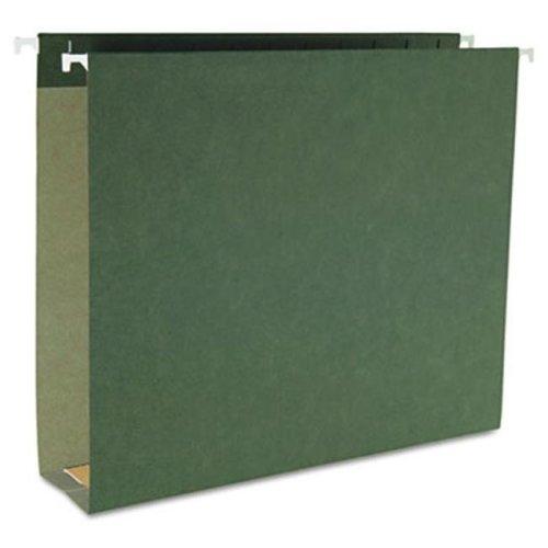 "Smead 64259 2"" Capacity Box Bottom Hanging File Folders- Letter- Green- 25/Box"