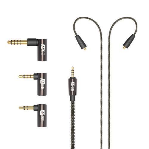 MEE Audio Universal MMCX Audio Cable/Adapter Set For Headphones -Black