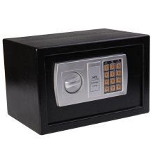 HOMCOM Electronic Digital Safe Box Security Combination Lock  Wall or Floor Mount with Keys Jewelry Cash Money Secure Cabinet Black