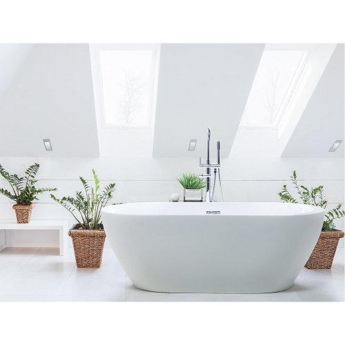 Freestanding Bath - Bathtub - White Acrylic - NEVIS