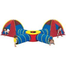 Extra Large Pop Up Tunnel and Tent Play System for Children Kids Boys Girls [Tent B]