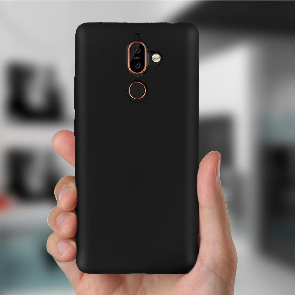 online store ebe7b 149b2 TPU soft case matte back cover for Nokia 7 Plus - Black