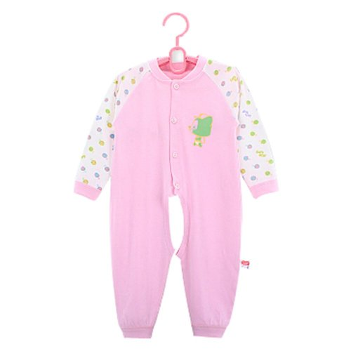 Baby Suit Clothing Long-Sleeved Cotton Baby Crawl Sports Open Fork Cotton Pink