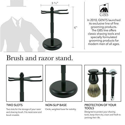 Shaving Brush & Razor Stand- Black Matte