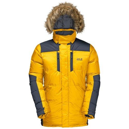 Jack Wolfskin Mens The Cook Parka Jacket Burly Yellow XT (Small)