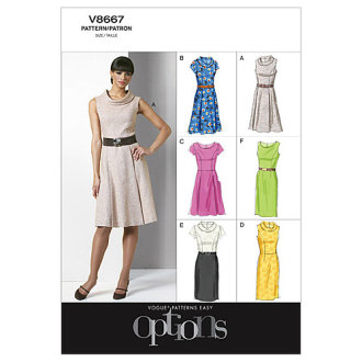 Misses'/Misses' Petite Dress-F5 (16-18-20-22-24) -*SEWING PATTERN*