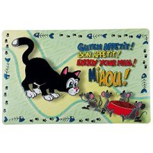 Trixie Cat Enjoy Your Meal Print Place Mat, 44 x 28 Cm, Pack Of 1 - Mat Plastic -  cat mat enjoy your meal place plastic non slip feeding bowls