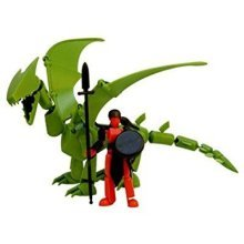 Stikfas Redeco Deluxe Action Figure Kit Beta Female Rider with Green Dragon