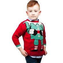 Miss Lulu Kids Boys Girls Thicker Christmas Jumper Joker Knitted Sweater