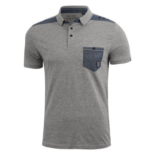 Mens polo shirt rawcraft branded tee top
