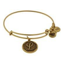 Alex and Ani Initial L Charm Bangle Bracelet - A13EB14LG