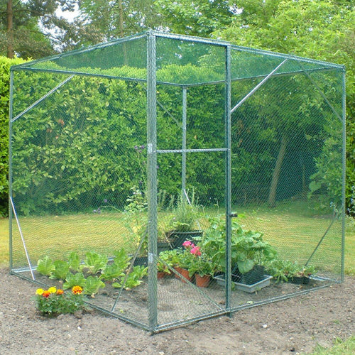 Expandable Modular Walk in Protective Fruit Cage.