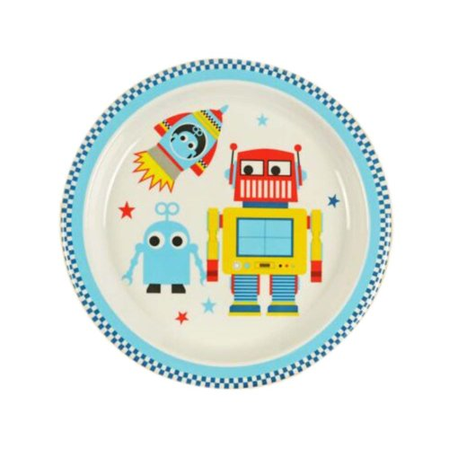 3 Pieces Of Fashion Cartoon Robot Pattern Drop Resistance Plate