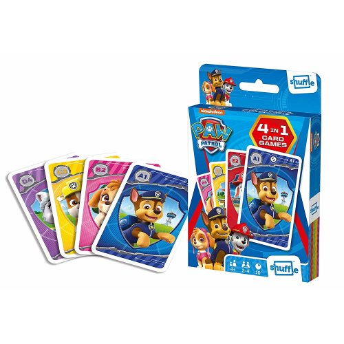Shuffle Fun 4 in 1 Paw Patrol Card Game