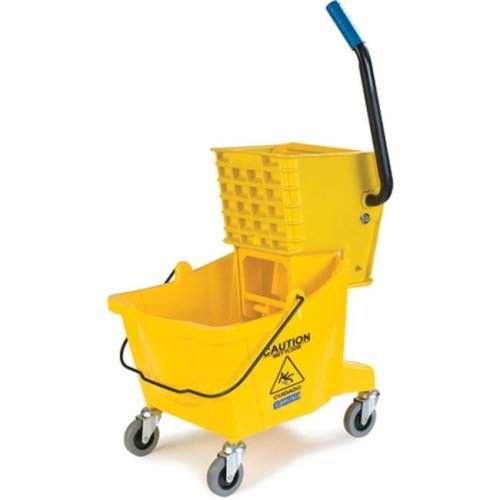 16.5 x 16.5 in 26 qt Side Press Bucket with Side Press Wringer Combo - Yellow