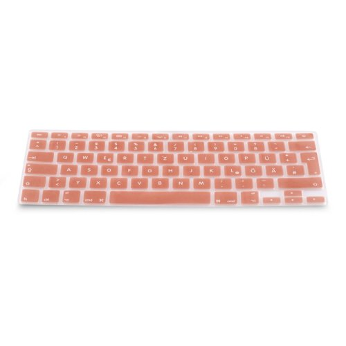 kwmobile Keyboard Cover for Apple MacBook Air 13''/ Pro Retina 13''/ 15'' (to Mid 2016) - German QWERTZ Layout Keyboard Cover Silicone Skin - Rose...
