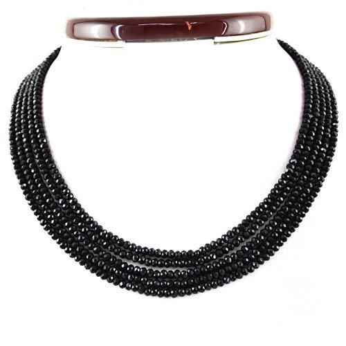 Genuine Black Spinel Necklace