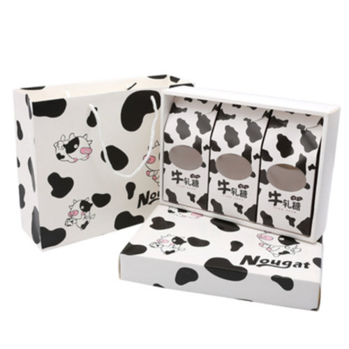 3PCS Cute Boxes WithHandle For Pack Candies,Nougat,OtherGift,in Party,Birthdays,and other Events,#E