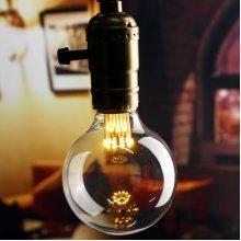 E27 G80 1W Vintage Antique Edison Filament COB Warm White LED Bulb Light Lamp AC 85-265V